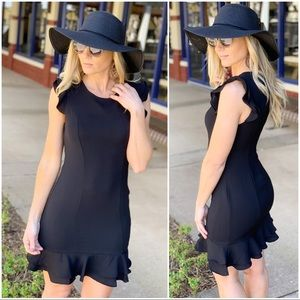 Infinity Raine Dresses - ✨LAST ONE✨Black ruffle dress